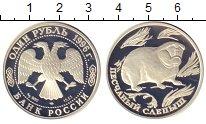 Изображение Монеты Россия 1 рубль 1996 Серебро Proof- Песчаный  слепыш.