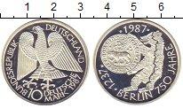 Изображение Монеты Германия 10 марок 1987 Серебро Proof