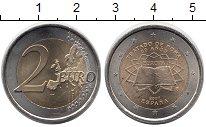 Изображение Монеты Испания 2 евро 2007 Биметалл UNC- Римский договор