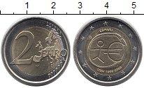 Изображение Монеты Испания 2 евро 2009 Биметалл UNC- 10 лет экономическом