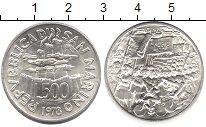Монета Сан-Марино 500 лир Серебро 1978 UNC-