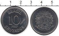 Изображение Монеты Бразилия 10 крузейро 1987 Сталь UNC-