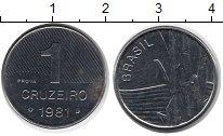 Изображение Монеты Бразилия 1 крузейро 1986 Сталь UNC-