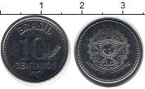 Изображение Монеты Бразилия 10 сентаво 1987 Сталь UNC-