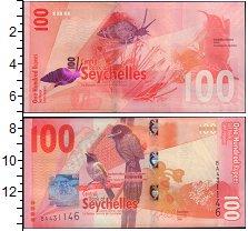 Изображение Банкноты Сейшелы 100 рупий 2016  UNC-