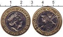 Изображение Мелочь Великобритания 2 фунта 2015 Биметалл UNC-