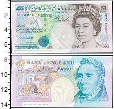 Изображение Банкноты Великобритания 5 фунтов 1990  UNC Елизавета II.  Джорд