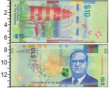 Изображение Банкноты Багамские острова 10 долларов 0  UNC- Портрет.  Маяк.  Фла