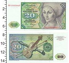 Изображение Банкноты Германия ФРГ 20 марок 1980  UNC-