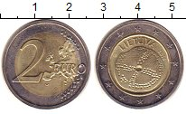 Изображение Монеты Литва 2 евро 2014 Биметалл UNC-
