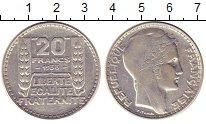 Изображение Монеты Франция 20 франков 1933 Серебро XF Марианна