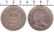 Изображение Монеты Вюртемберг 5 марок 1900 Серебро XF-