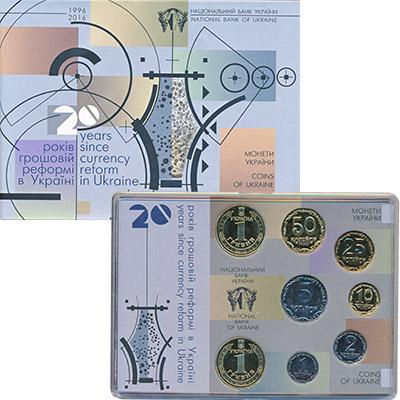 Изображение Подарочные наборы Украина Набор монет Евро-модель 2016 Медно-никель UNC Набор  монет  2016 г