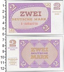 Изображение Банкноты ФРГ 2 марки 1967  UNC Проба