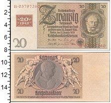 Изображение Боны Германия 20 марок 1929  XF Надпечатка 1948 г