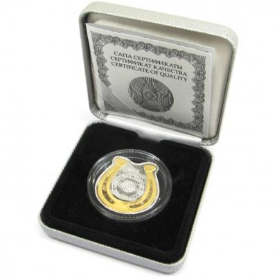 Изображение Подарочные монеты Казахстан 100 тенге 2016 Серебро Proof Монета - талисман им