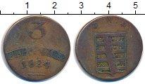 Изображение Монеты Германия Саксен-Веймар-Эйзенах 3 пфеннига 1824 Медь VF