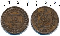 Изображение Монеты Тунис 10 сантим 1891 Бронза XF