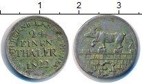 Изображение Монеты Анхальт-Бернбург 1/24 талера 1822 Серебро XF