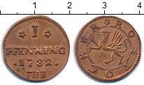 Изображение Монеты Германия Росток 1 пфенниг 1782 Медь XF