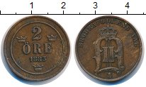 Изображение Монеты Швеция 2 эре 1883 Бронза XF Оскар II