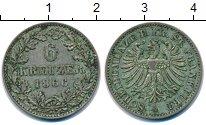 Изображение Монеты Германия Франкфурт 6 крейцеров 1866 Серебро XF