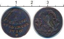 Изображение Монеты Аугсбург 1 пфенниг 1780 Медь VF