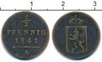 Изображение Монеты Рейсс 1/2 пфеннига 1841 Медь VF Генрих LXII