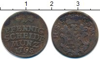 Изображение Монеты Германия Саксен-Кобург-Саалфелд 1 пфенниг 1798 Медь VF