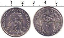 Изображение Монеты Ватикан 1 лира 1942 Никель UNC-