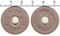 Изображение Монеты Фиджи 1 пенни 1961 Медно-никель XF Елизавета II.