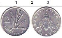 Изображение Монеты Италия 2 лиры 1954 Алюминий UNC