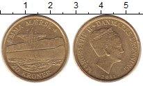 Изображение Монеты Дания 20 крон 2011 Латунь XF Королева  Маргрете I