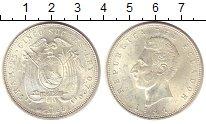 Изображение Монеты Эквадор 5 сукре 1944 Серебро UNC
