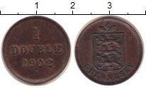 Изображение Монеты Гернси 1 дубль 1902 Бронза XF