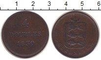 Изображение Монеты Гернси 4 дубля 1830 Медь XF