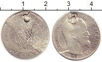 Изображение Монеты Дания Датская Вест-Индия 10 центов 1862 Серебро VF