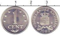 Изображение Монеты Антильские острова 1 цент 1983 Медно-никель XF