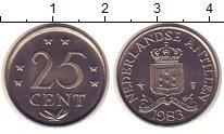 Изображение Монеты Антильские острова 25 центов 1983 Медно-никель XF Герб