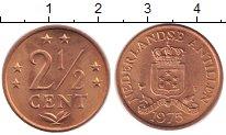 Изображение Монеты Антильские острова 2 1/2 цента 1975 Медь XF