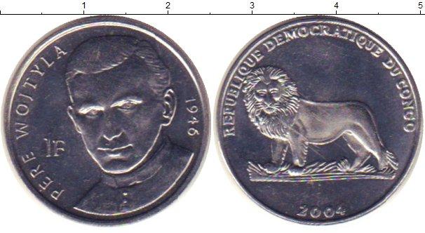 Картинка Монеты Конго 1 франк Медно-никель 2004