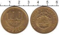 Изображение Монеты Коста-Рика 100 колон 2007 Латунь VF
