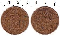 Изображение Монеты Нидерландская Индия 2 1/2 цента 1945 Медь VF Герб