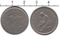 Изображение Монеты Бельгия 1 франк 1934 Медно-никель VF