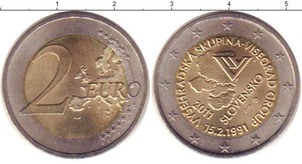 Картинка Монеты Словакия 2 евро Биметалл 2011