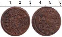 Изображение Монеты Швеция 1/4 эре 1640 Медь VF Герб