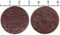 Изображение Монеты Швеция 1/4 эре 1637 Медь VF Герб