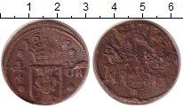 Изображение Монеты Швеция 1/4 эре 1665 Медь VF