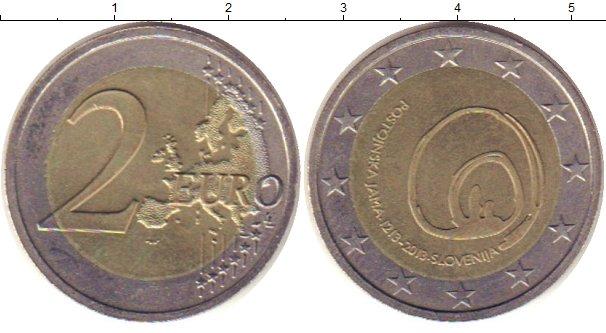 Картинка Монеты Словения 2 евро Биметалл 2013