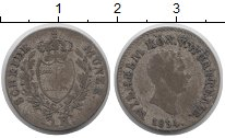 Изображение Монеты Вюртемберг 3 крейцера 1834 Серебро VF Вильгельм